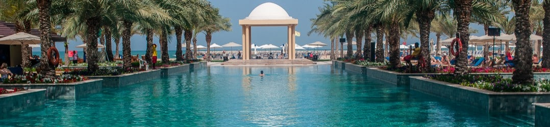 Swimming pool at the Hilton Ras Al Khaimah Resort & Spa