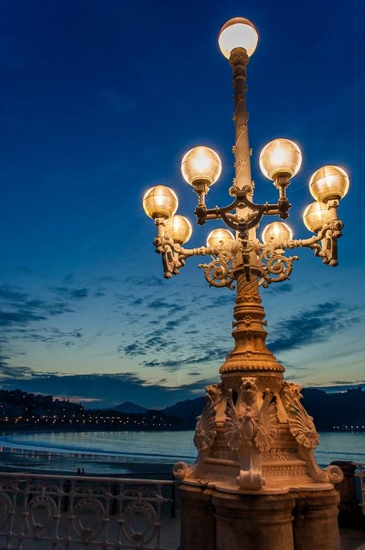 Take an early evening stroll along La Concha promenade in Europe