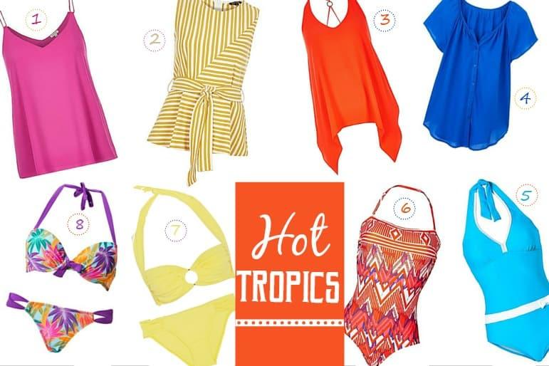 Spring and summer wardrobe essentials - hot tropics
