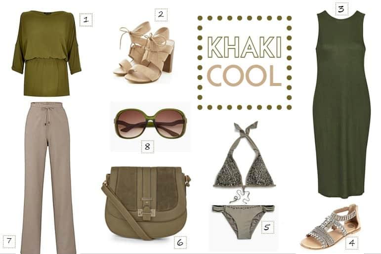 Spring and summer wardrobe essentials - khaki
