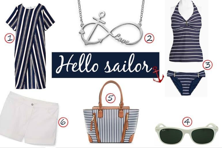 Spring and summer wardrobe essentials - nautical