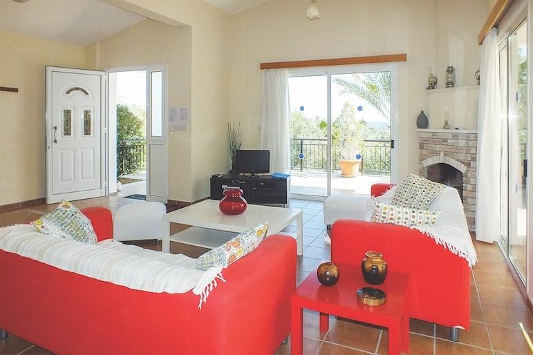 Living room at Katerina Villa
