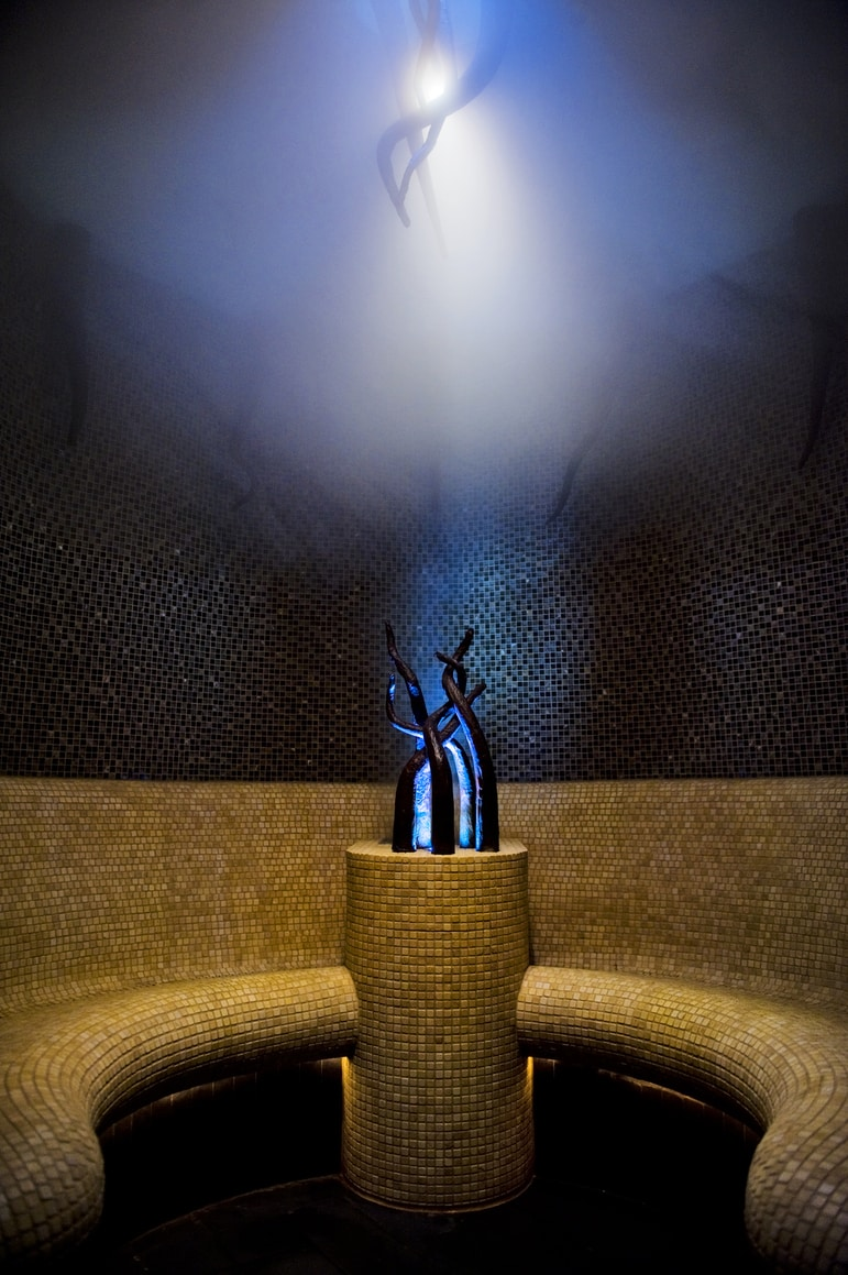 Rainforest spa steam room at the Banyan Tree Al Wadi, Ras Al Khaimah