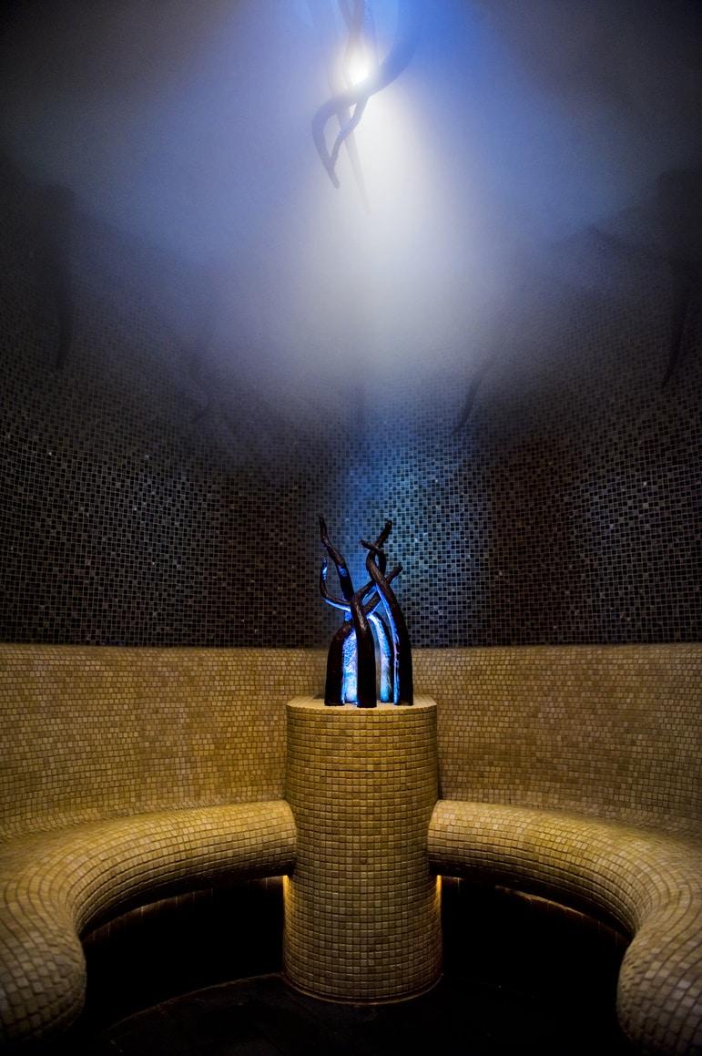 Rainforest spa steam room at the Banyan Tree Al Wadi, Ras Al Khaimah