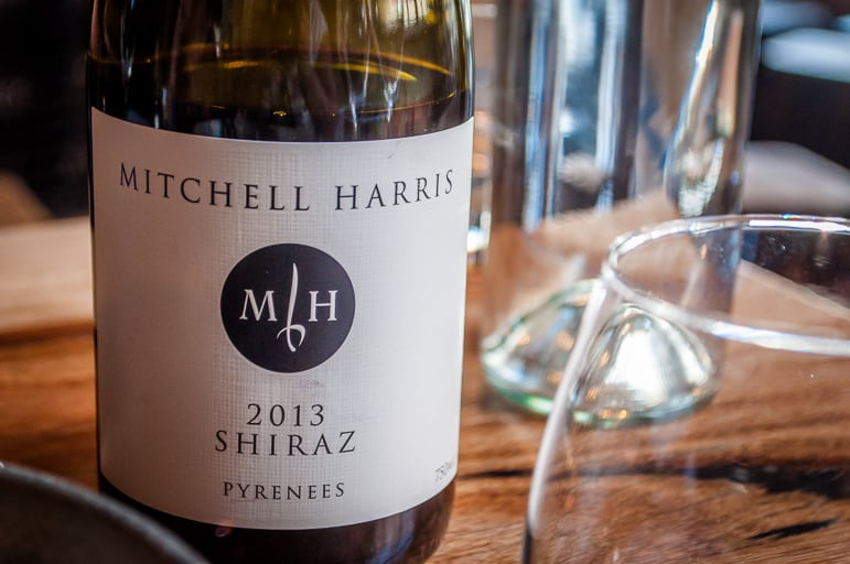 A cool climate shiraz from Victoria's Pyrennes, at Mitchell Harriss, Ballarat