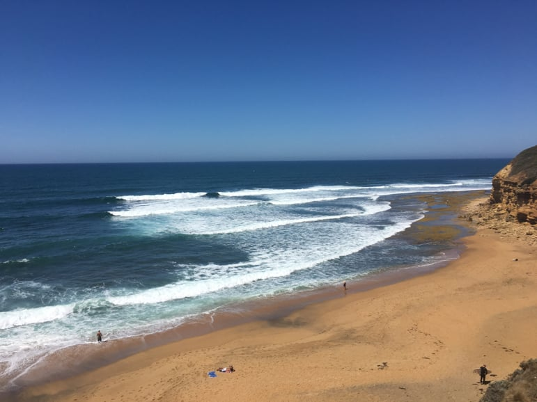 Bells Beach - scene of the Ripcurl surf pro championships