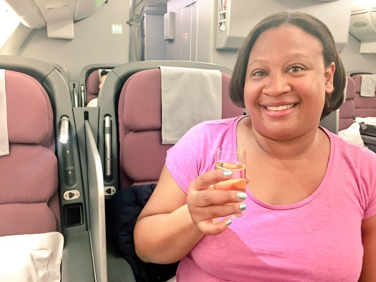 Enjoying Qantas business class A380