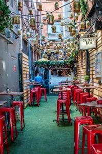Melbourne to the Great Ocean Road itinerary - Chuckle Park in Little Collins Street serves delicious bites from a caravan