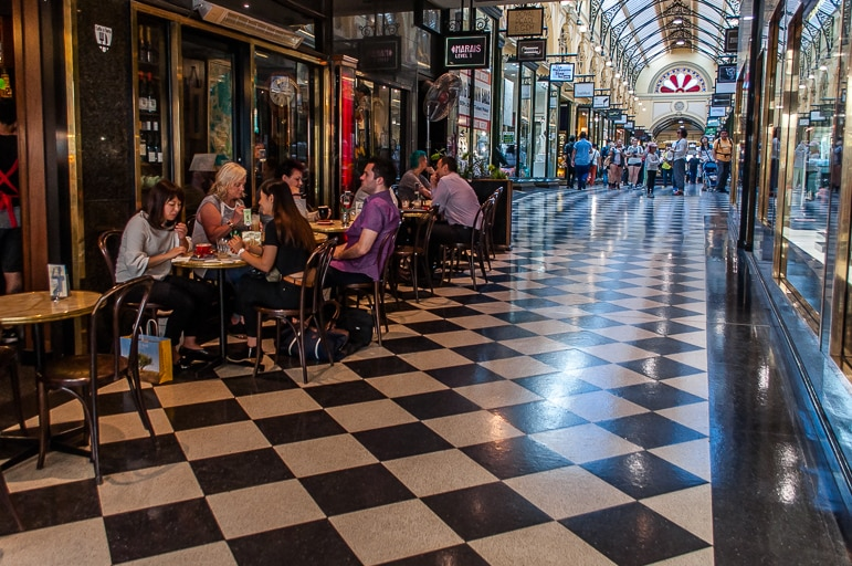 Melbourne to the Great Ocean Road itinerary - coffee time in Royal Arcade, Melbourne