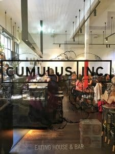 Melbourne to the Great Ocean Road itinerary - Melbourne brunch spot Cumulus Inc