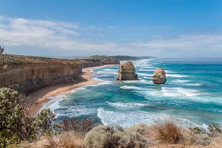 Melbourne to the Great Ocean Road itinerary - the colour of Victoria's coast