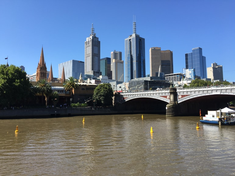 Melbourne from the Southbank