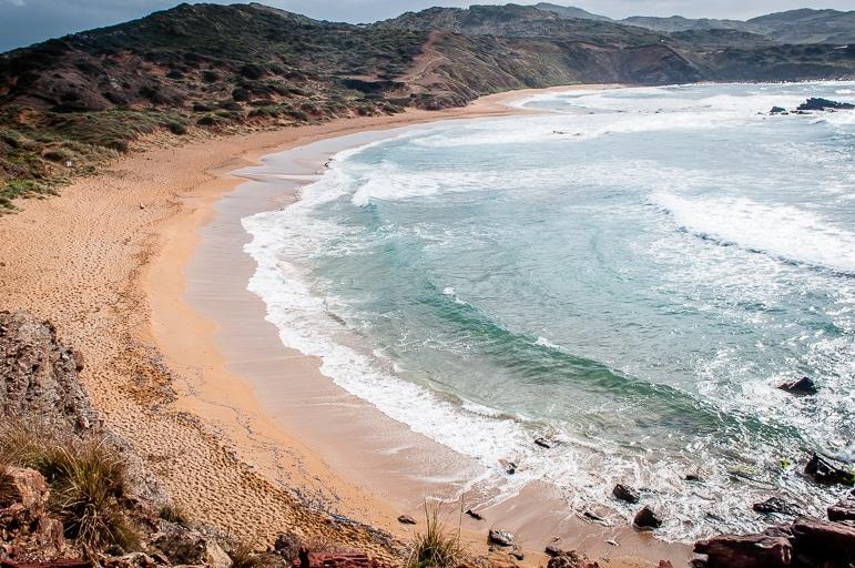 Menorca beaches - heart-shaped Cavalleria beach