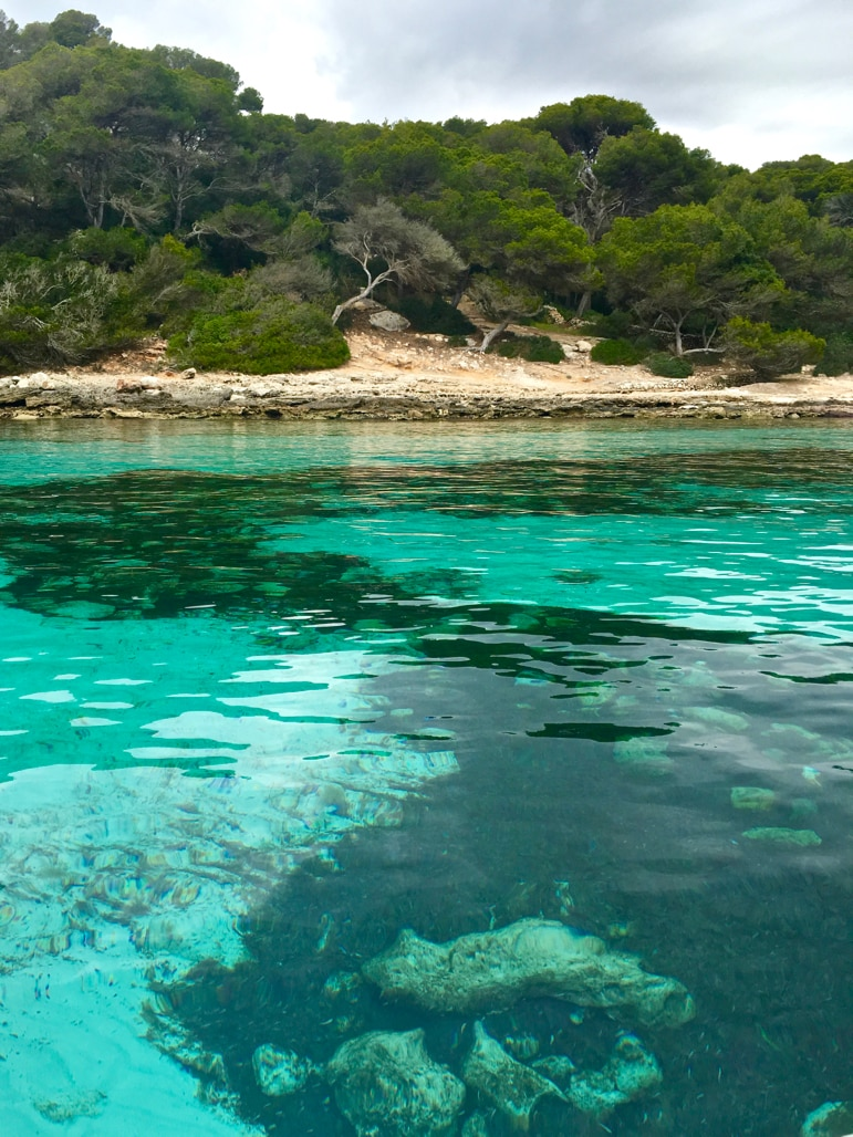 Best Menorca beaches - the clear waters close to Marcarella