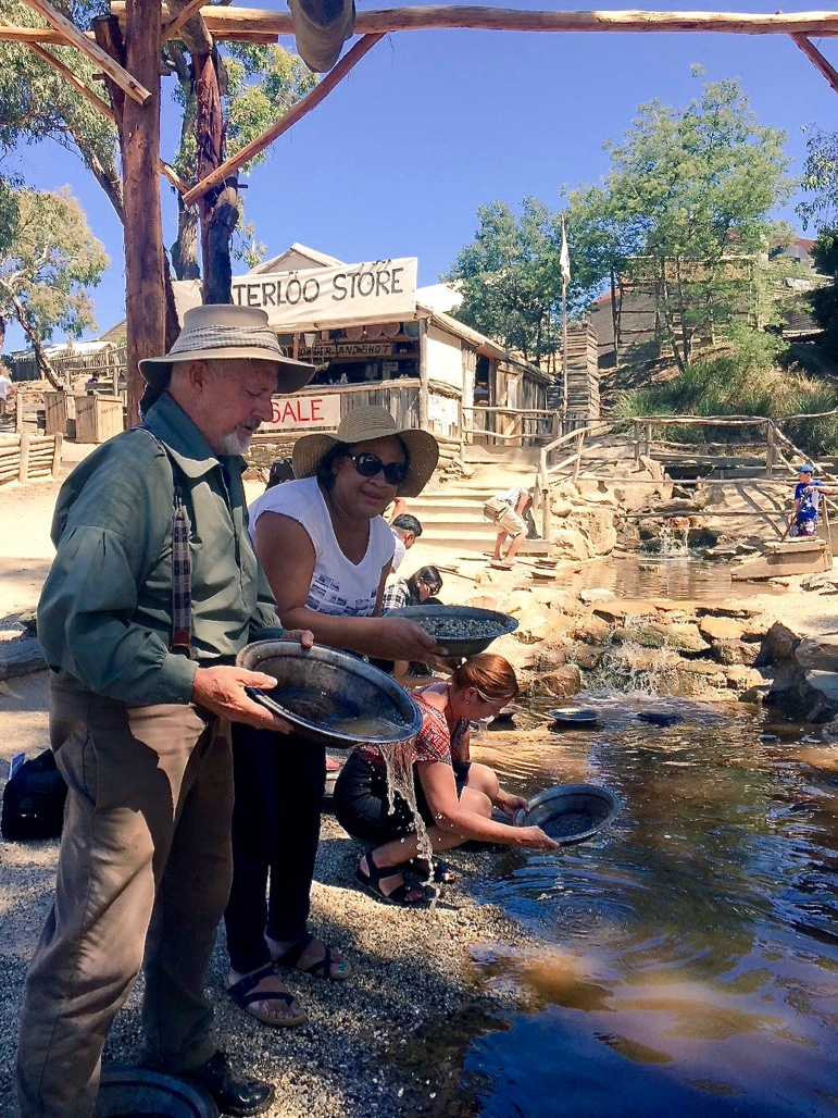 Panning for gold at Sovereign Hill | pic: Sam, Sovereign Hill