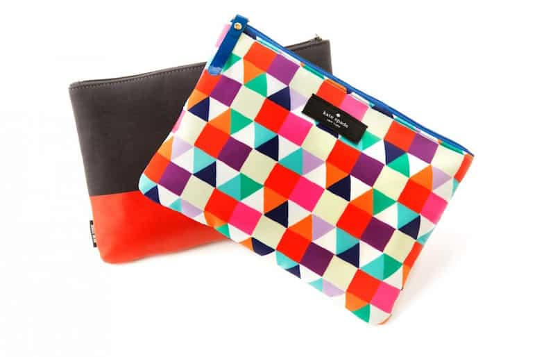 Qantas business class Jack and Kate Spade amenity kits