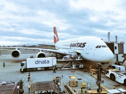 Qantas business class vs premium economy A380 review