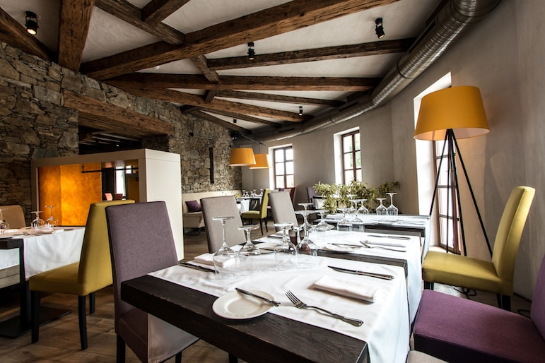 Restaurant at Golden Prague Resort Salabka, in the RCI resorts network