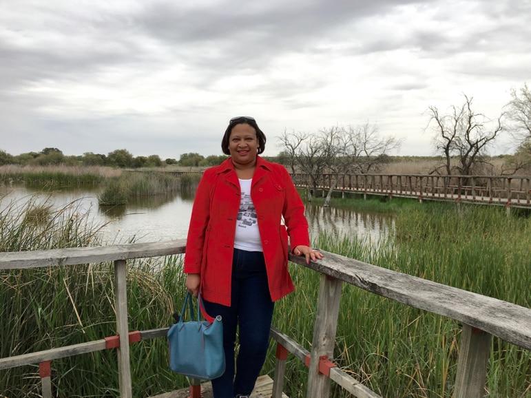 Sarah at Tablas de Daimiel in La Mancha, Spain