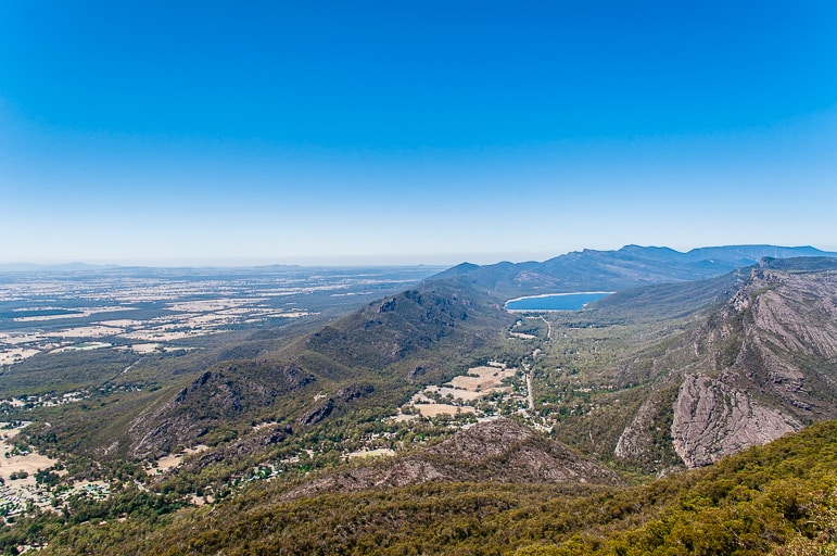 The view from Boroka Lookout in The Grampians National Park, Vic