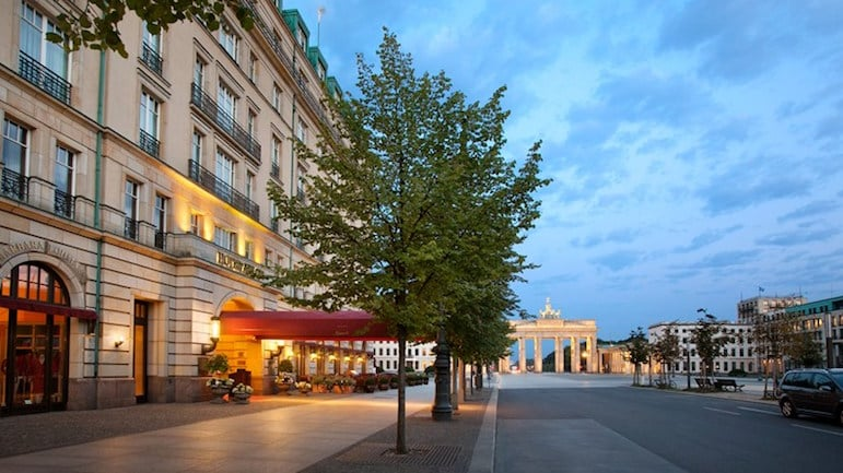 Things to do in Berlin - Adlon Kempinski hotel from the Brandenburg Gate