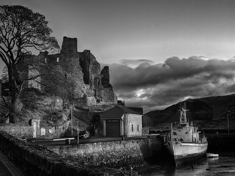 An atmospheric Carlingford Castle, Ireland