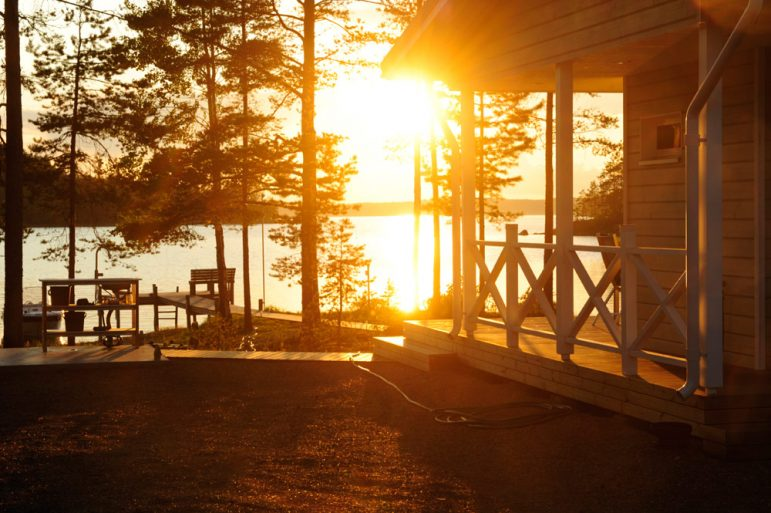 Cottage life in the Midnight Sun of the lakeland region of Finland is perfect for some peace and solitude Pic Visit Finland