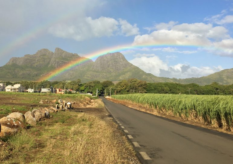 The rainbow filled skies of Mauritius