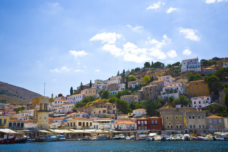 The harbour of Hydra makes a beautiful welcome on arrival to the island Pic Mike Norton