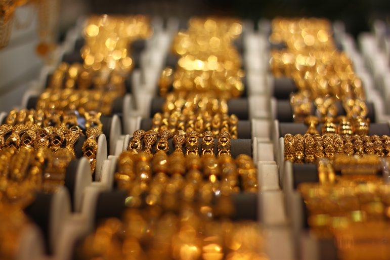 Gold on sale at the Gold Souk