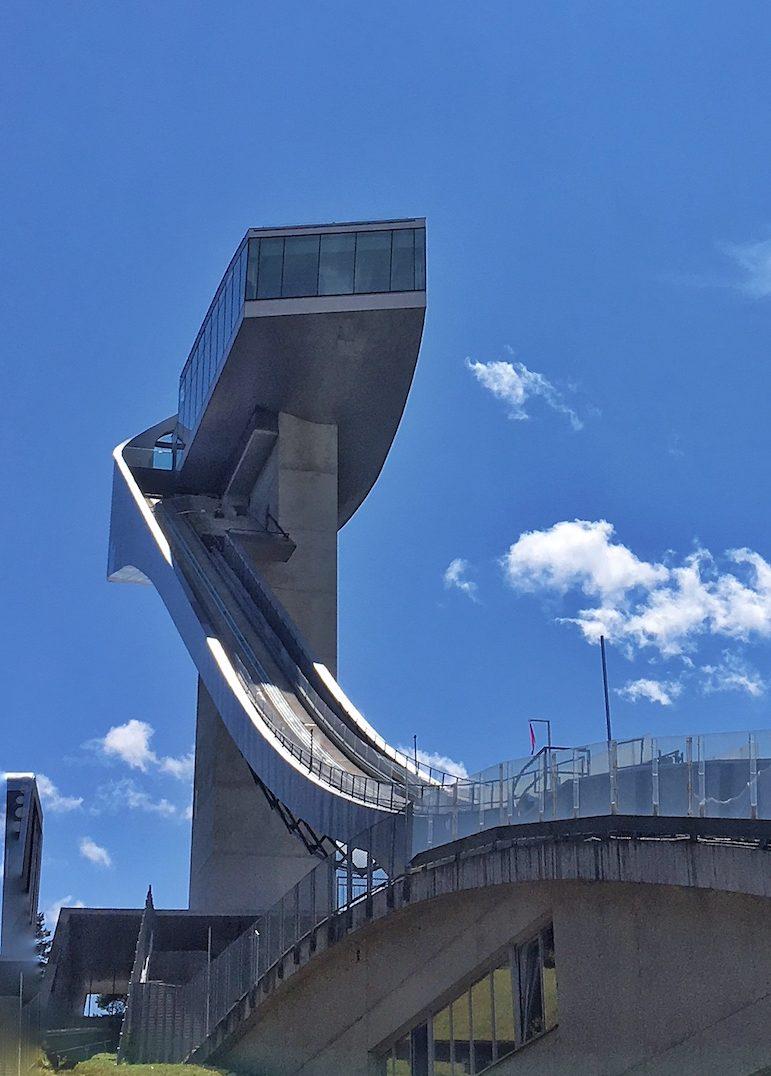Bergisel ski jump designed by Zaha Hadid, in Innsbruck, Austria