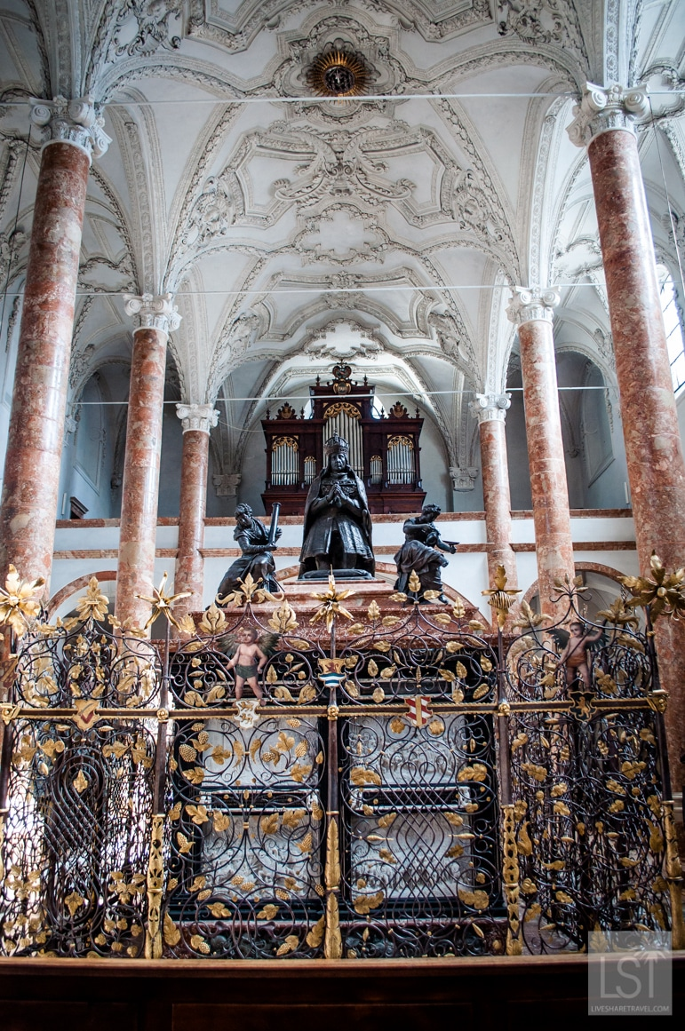 The tomb of Emperor Maximilian I in the Royal Court Church