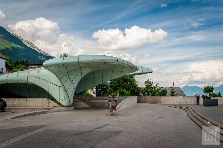 Funicular station designed by Zaha Hadid, Innsbruck