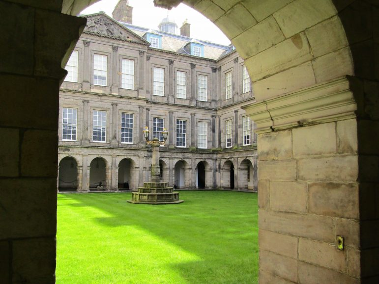 Inside the grounds of the majestic Holyrood Palace