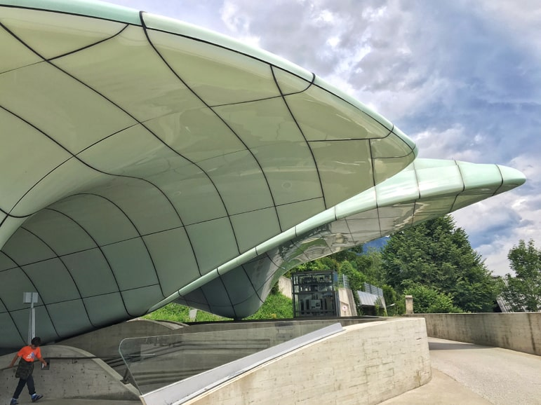 Funicular station designed by Zaha Hadid