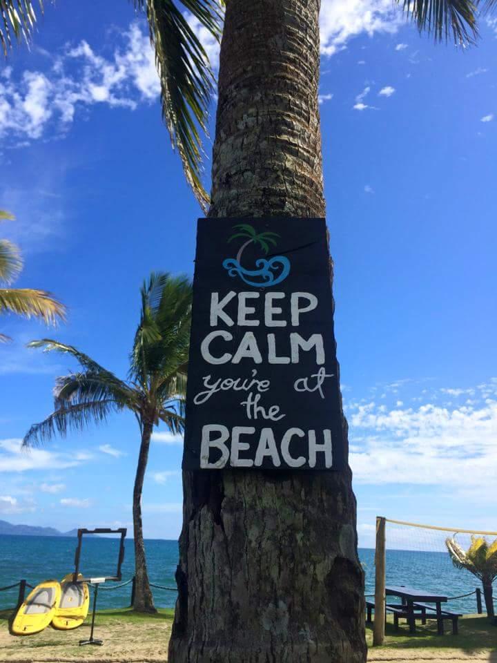 Keep calm - you're at the beach