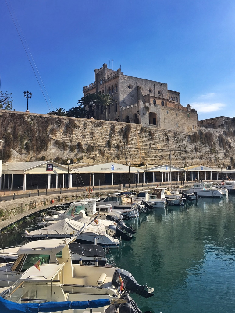 Harbour in Ciutadella, Menorca