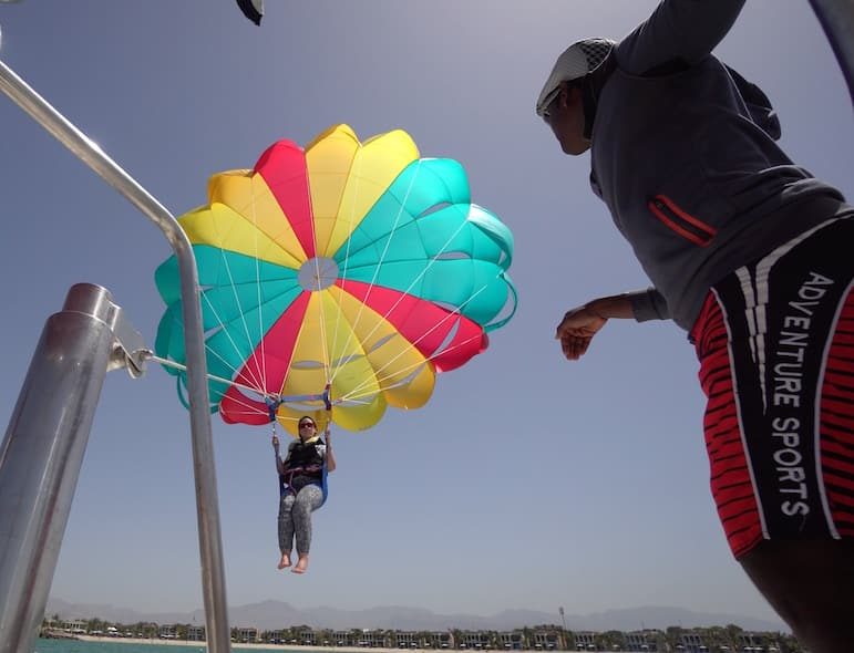During a holiday to Ras Al Khaimah you can try Parasailing | pic: Brandon Li