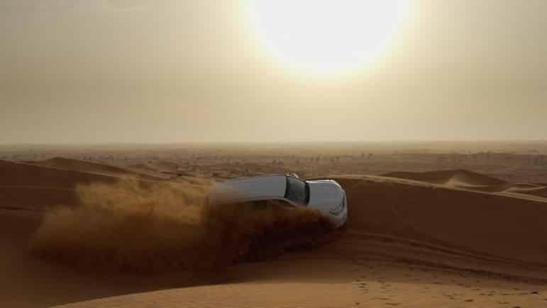 Places to go in Ras Al Khaimah - dune bashing in the desert | pic Brandon Li