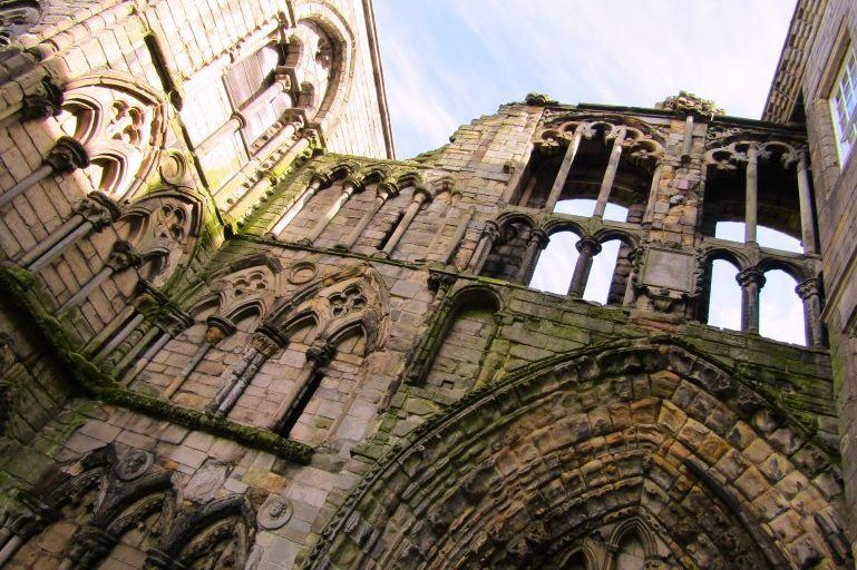 The ruins of Holyrood Abbey