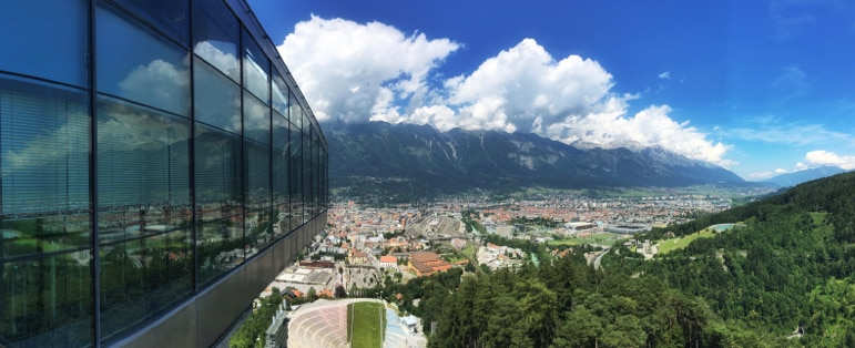 Things to do in Innsbruck - enjoy Zaha Hadid's modern architecture and panoramic views from Bergisel