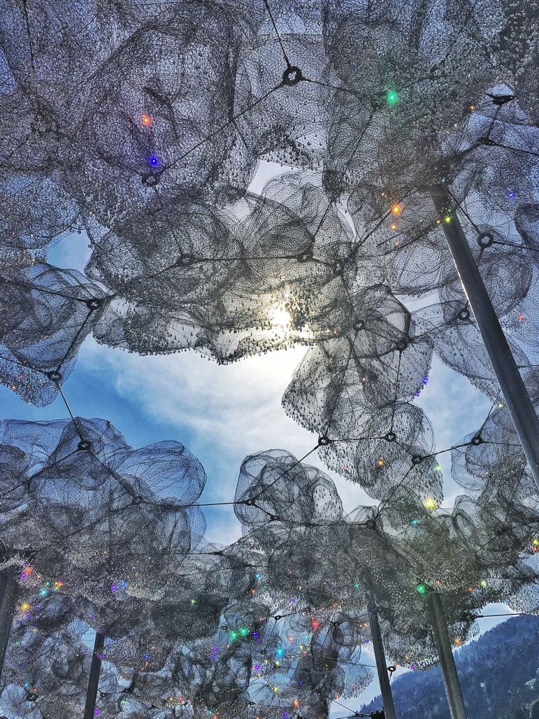Things to do in Innsbruck - see crystal clouds with 800,000 crystals at Swarovski Kristallwelten