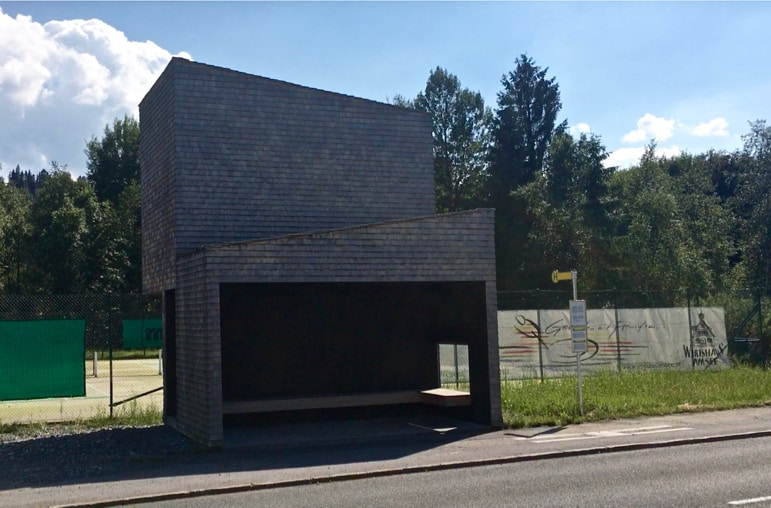 A Krumbach bus stop for tennis fans in one of the quirkiest places to visit in Austria