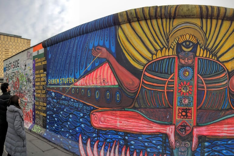 Berlin's East Side Gallery - the young vibrancy of this city makes it one of the best autumn vacations
