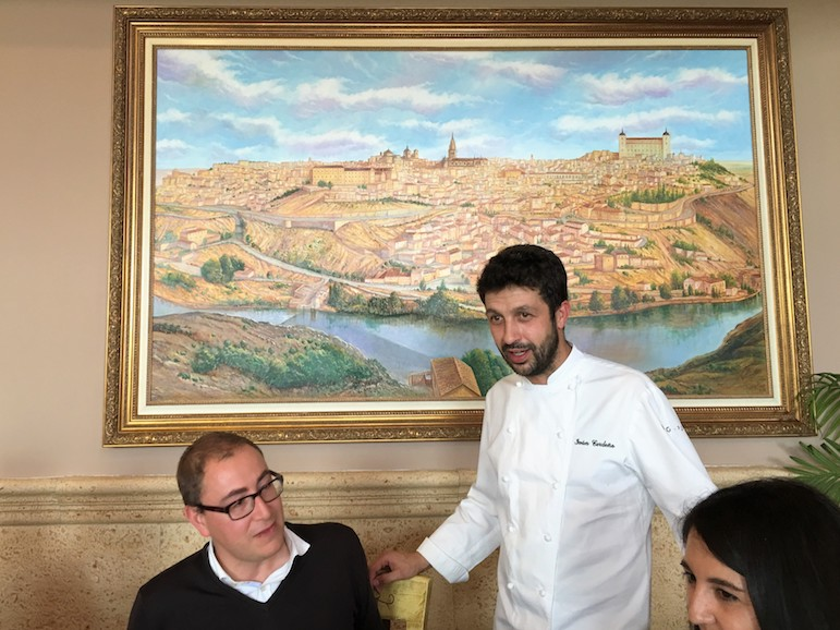 Chef Ivan Cerdeño at Restaurante El Carmen de Montesion
