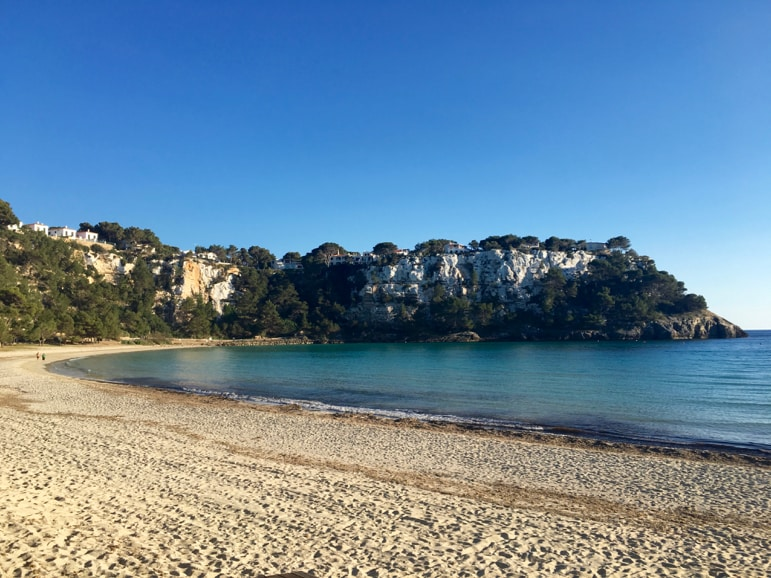 Things to do in Menorca - visit the beach at Cala Galdana