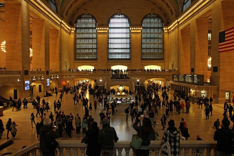 New York travel tips - the remarkable Grand Central Station is a must visit on your subway travels
