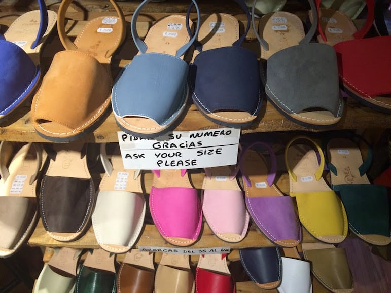Things to do in Menorca - buy some traditional sandals