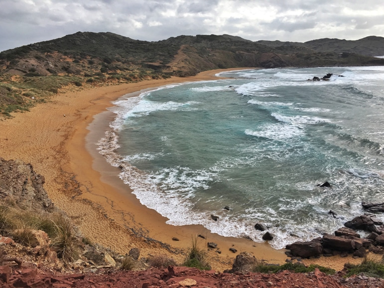 Things to do in Menorca - visit the heart-shaped Cavalleria beach