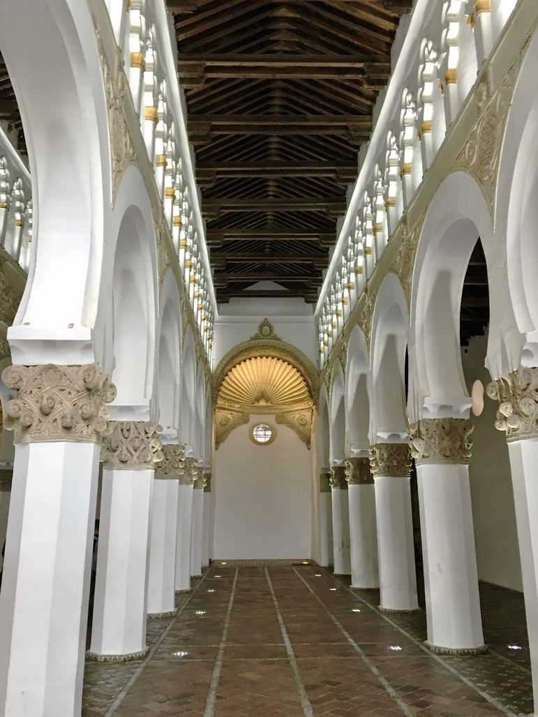 Things to do in Toledo, Spain - don't miss the mosque of Santa Maria la Blanca